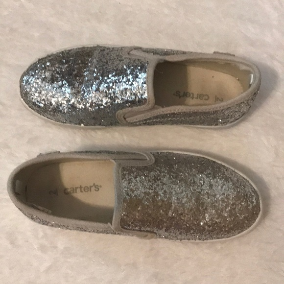 9df43cff1414 Carter's Shoes | Girls Carters Silver Sparkle Sneakers | Poshmark
